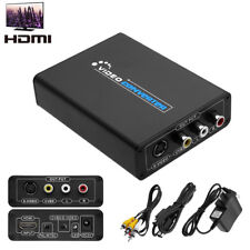 HDMI to 3RCA AV CVBS  & S-Video R/L Audio Converter Adapter Downscaler Global