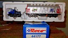 ROCO 44177 Carro telonato  50 anni MB-Unimog con camion adibito anche su rotaia