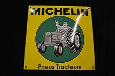 PLAQUE EN TÔLE EMAILLEE MICHELIN pneus tracteurs / 30 CMS X 30 CMS