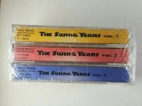 The Swing Years Cassettes Volumes 1-3 Sony Music Vintage 1994 NEW SEALED