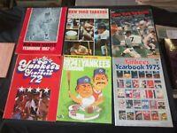1967-1974 NEW YORK YANKEES BASEBALL YEARBOOK - LOT OF 6 - O 2618B