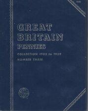 Great Britain Pennies 1902-1929 Whitman Folder NOS