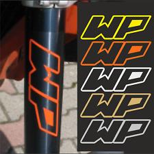 2x WP Aufkleber 14 x 5cm  passend für ktm Supermoto Enduro  Superduke Racing F
