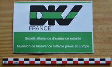 Autocollant sticker des années 1980, DKV France