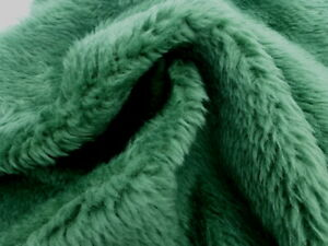 sheepskin shearling leather hide Large Spring Green Thick Plush Fluffy Hair