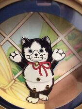 Rare 1970s Vintage Small Otagiri Dancing Cat Music Box Plays Flashdance