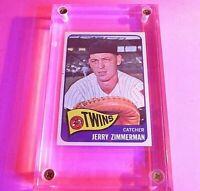 1965 Topps #299 Jerry Zimmerman Twins NmMT High Grade.
