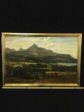 Antique Irish Oil On Canvas Landscape Painting By John S. Macnab Dated 1885 Art