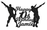 Floss Flossing Cake Topper Birthday Fans Gamers Dance Personalised Nite time