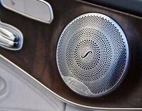 4x Burmester Auto Audio Lautsprecher Trimm Metall Abdeckung Mercedes trim cover