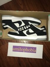 New Men's Nike SB Dunk Low Elite QS Size 10 Black White Skateboarding Shoes