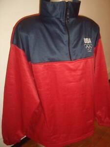 US Olympic Commitee TEAM USA London 2012 1/2 Zipper Pullover Jacket Size XL EUC