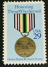 US Scott 2551- Desert Storm Medal, Honoring- MNH OG F-VF 29c 1991