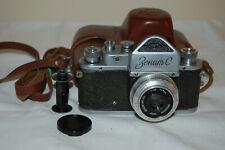 Zenit-C Vintage Soviet SLR Camera, Industar Lens. 39 mm Mount. 56056599. UK Sale
