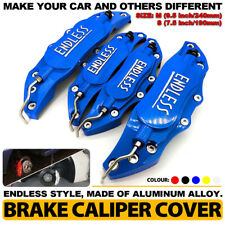 4 Blue ENDLESS Brake Caliper Cover Metal Style Disc Universal Car Front Rear Kit