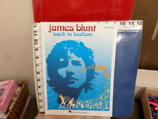 James Blunt back to bedlam easy piano 48 pages music book