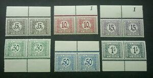 [SJ] Congo Postage Due 1923 Taxes Payer (stamp pair margin) MNH
