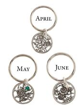 Month Lily of the Valley Pewter Keychain Victorian Trading Co May Flower of the