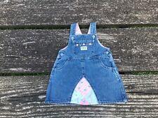 Oshkosh Girls Denim Jumper Dress Size 12 Months