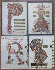 Grosse Initialen aus der Schule Montecassinos, 11. Jh. - Druck aus der 50er