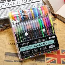 36x Color Gel Pen Glitter Scrapbooking Ink Pens Adult Drawing Painting Craft Art