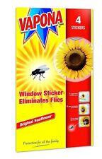4 Vapona Fly Killer Sunflower Window Sticker Eliminates Flies Pack of 1 To 5