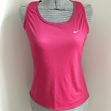 Nike Fit Dry Tank Top Racer Back Pink Sleeveless Keyhole Size Medium M A2