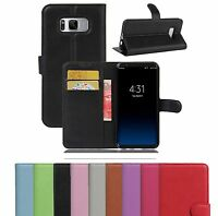Luxury PU Leather Flip Wallet Book Case Cover Pouch For Samsung Galaxy J3 J4 J6