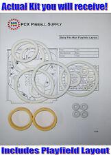 1982 Bally Baby Pac-Man Pinball Machine Rubber Ring Kit