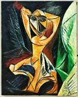Beautiful painting. Pablo Picasso. Oil on Canvas. Unframed. Signed