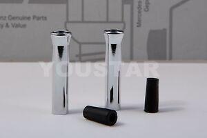 UNICUS Door Pin Lock Knobs 2x for Mercedes A B C E CLK CLA G GL SLK Class CHORME