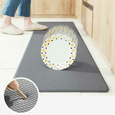 Anti Fatigue Kitchen Mat Diamond Weave Non-Skid Faux Leather Waterproof Rugs