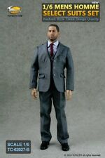 Toys City MENS HOMME SELECT In Grey 1/6 Scale Clothing SUIT Figure *NEW*