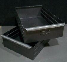 Vintage Industrial Metal Storage Box Tote Drawer Rustic Storage Decor Parts Bin