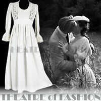 VINTAGE LAURA ASHLEY DRESS WEDDING LACE CROCHET 70s 12 10 8 6 60s BOHO VICTORIAN