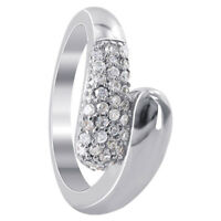 925 Sterling Silver 8mm CZ Cubic Zirconia 3mm Journey Ring Size 5 - 9