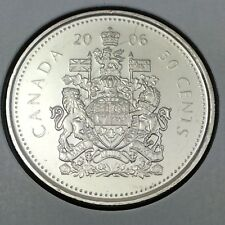 2006 Canada 50 Fifty Cents Brilliant Uncirculated Coin Not In Case D395