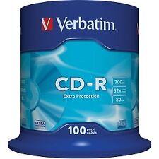 Verbatim CD-R 700mb 52x tarrina 100uds (Cod. Inf-ccdcdw0028)