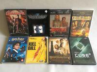 Lot DVD de 8 * Kill Bill + harry Potter + Pirates des Caraibes + Poltergeist...