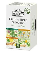 Ahmad Fruit and Herbal Selection Foiled Tea Bags 20 ct 1 case (6x20=120 ct) NEW