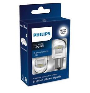 2x PHILIPS 11498XUWX2 X-tremeUltinon Gen2 P21W LED Reversing Light Bulbs