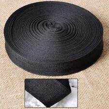 Black Nylon Strap Webbing Camping Lashing Straping 10 Yards Length 1 inch Width