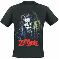 Rob Zombie Hell Billy Head T Shirt Mens Licensed Rock N Roll Music Tee New Black