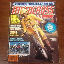 JULY 1982  MOTOCROSS ACTION 125/250 HANGTOWN 250cc SHOOTOUT 250 CR KX VINTAGE YZ