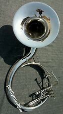 """SOUSAPHONE 22""""BELL OF PURE BRASS IN CHROME POLISH + BAG & MOUTHPC +FREE SHIPPING"""