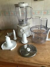 Kenwood FP210 500W Compact Food Processor - White VGC with accessories