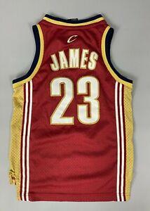CLEVELAND CAVALIERS LEBRON JAMES JERSEY NBA BASKETBALL SWINGMAN REEBOK SIZE S