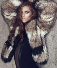 Lanvin H&M Faux Fur Jacket Coat Size 8 Coat Fancy Evening Classy