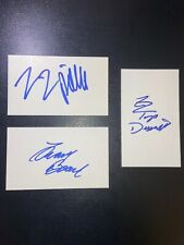 ZZ Top - Billy Gibbons Dusty Hill Frank Beard - Signed 3x5 Index Cards W/PROOF