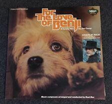 For The Love Of Benji - 12' Vinyl LP Record Soundtrack Plus Inner Book